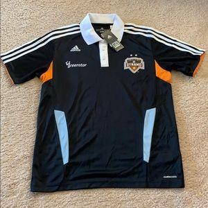 NWT MLS Houston Dynamo ClimaCool Polo M